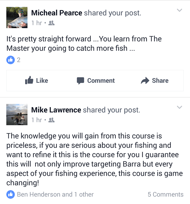 fishing class review